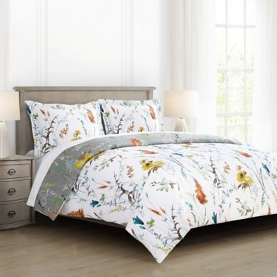 Brigita Floral Reversible Comforter Set Bed Bath Amp Beyond