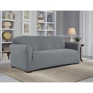 Sofa Slipcovers   Couch Covers   Bed Bath   Beyond Perfect Fit     NeverWet Luxury Sofa Slipcover