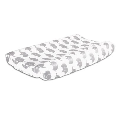The Peanut Shell® Elephant Changing Pad Cover in Grey ...