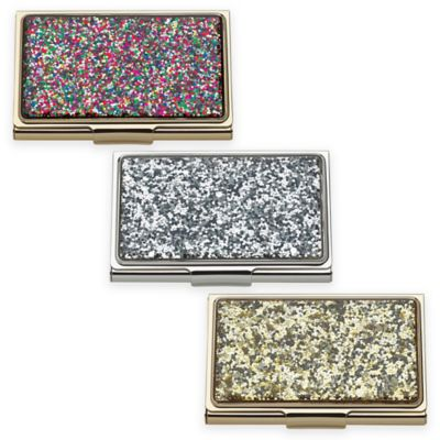 Kate Spade New York Simply Sparkling Glitter Card Holder