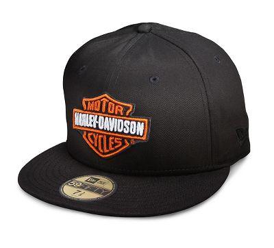 Mens Bar Amp Shield Logo 59FIFTY Cap Flat Brim Official