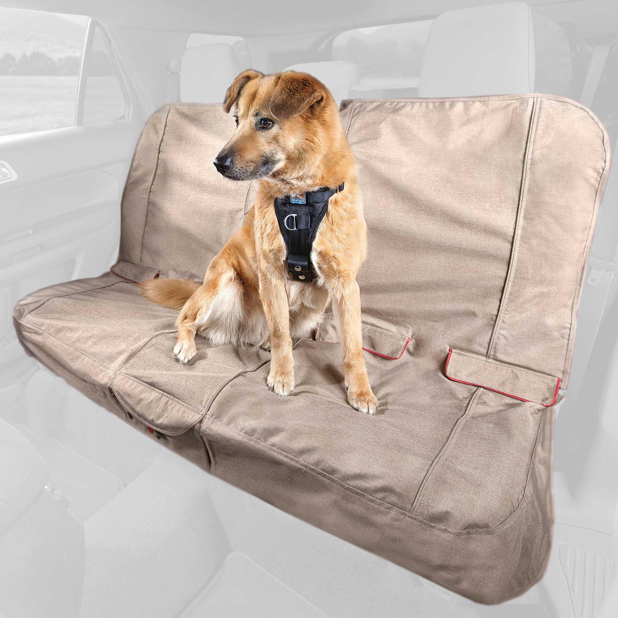 Kurgo Heather Bench Tan Dog Car Seat Cover Petco