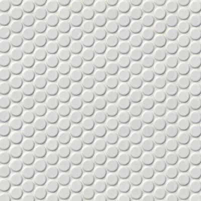 penny round gloss white porcelain mosaic tile