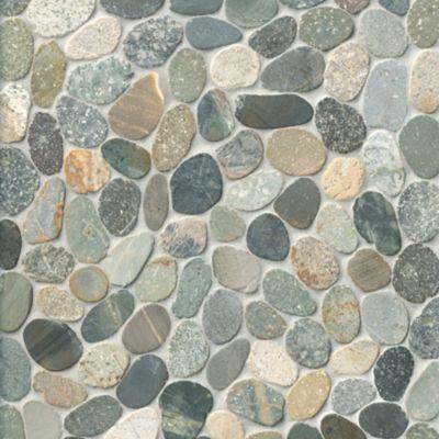 medium sliced earth pebbles mosaic wall and floor tile 12 x 12 in