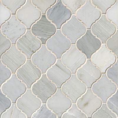 hampton polished arabesque marble mosaic tile