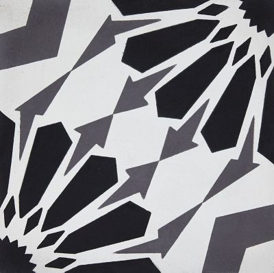 star black grey encaustic square pattern cement wall and floor tile 8 in