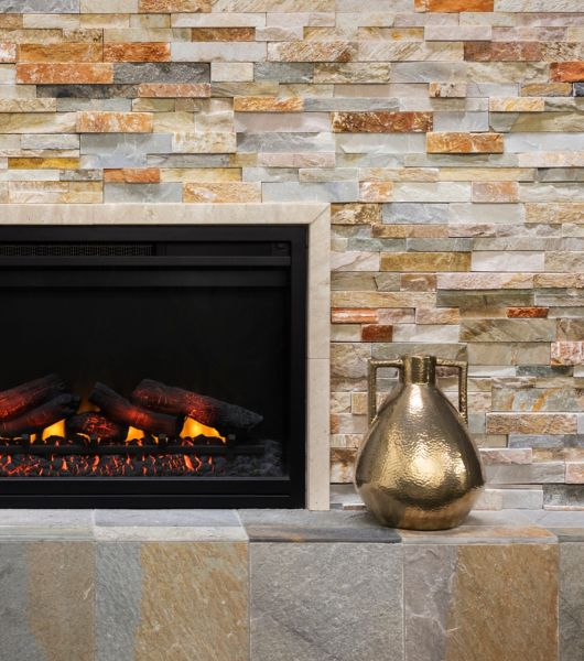 fireplace wall surround tile the tile