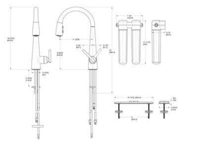 Stainless Steel Lita GT529FLS 1Handle PullDown Kitchen