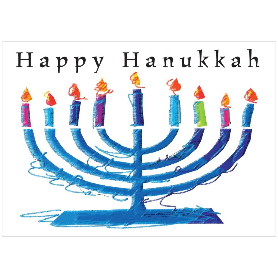Sample Holiday Card Menorah Sketch By Office Depot Amp OfficeMax