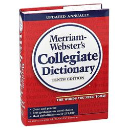 Merriam Websters Collegiate Dictionary 11th Edition by ...