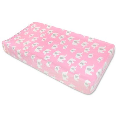 Wendy Bellissimo™ Elephant Changing Pad Cover in Pink ...