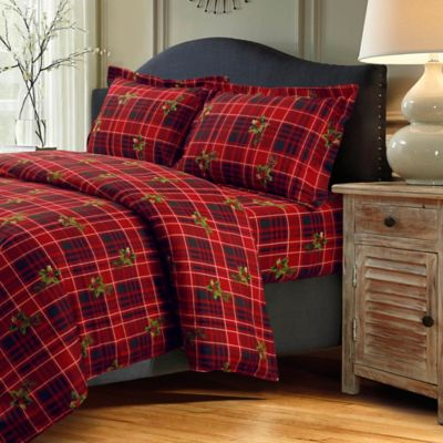 Tribeca Living Vintage Plaid Duvet Cover Set Bed Bath