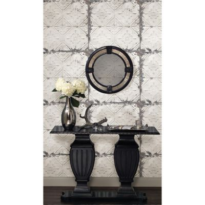 nuwallpaper vintage tin tile peel and stick wallpaper