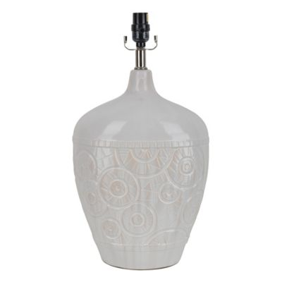 Ceramic Embossed Table Lamp in White - Bed Bath & Beyond