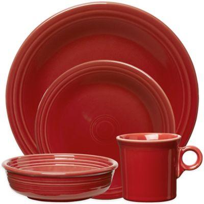 Fiesta Dinnerware Collection In Scarlet Bed Bath Amp Beyond