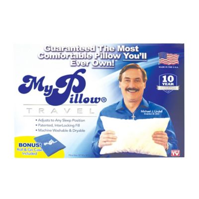 mypillow roll goanywhere travel bed pillow