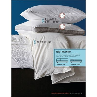 indulgence by isotonic down alternative side sleeper pillow