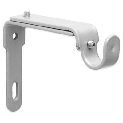 umbra nickel 2 piece drapery rod brackets