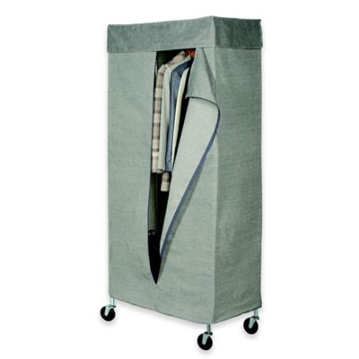 commercial grade garment rack with tweed cover