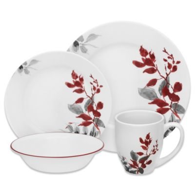 Corelle Boutique Kyoto Leaves Dinnerware Collection Bed