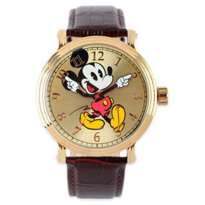 Disney® Mickey Mouse Men's 43mm Dancing Arms Gold Dial ...