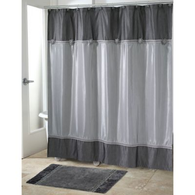 Avanti Braided Medallion Shower Curtain In Granite Bed