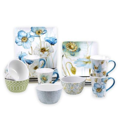 Certified International Greenhouse Poppy Dinnerware Collection Bed Bath Amp Beyond