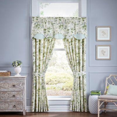 Waverly Fleuretta Scalloped Cotton Window Valance In Spring Bed Bath Amp Beyond