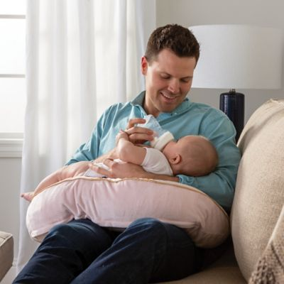 boppy luxe nursing pillow and positioner in luxe pink princess