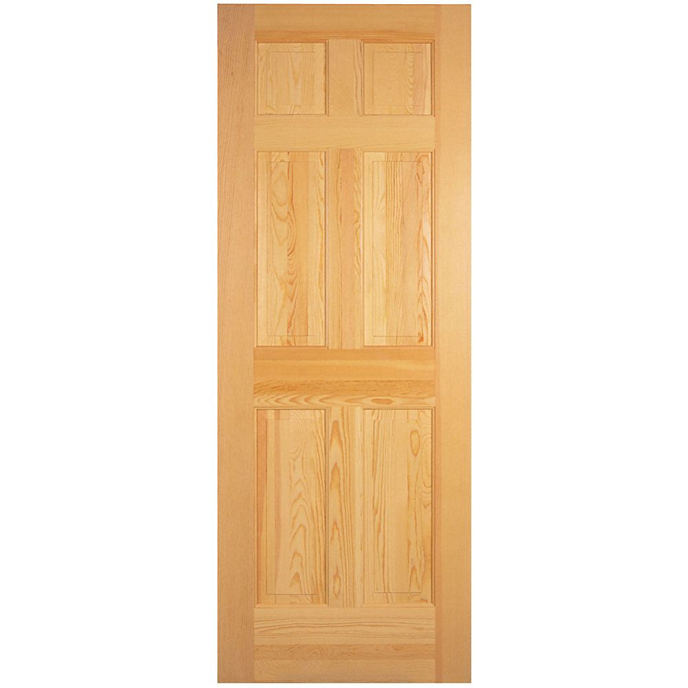 masonite 32 inch x 80 inch 6 panel clear pine door the Masonite 32 Inch X 80 Inch 6 Panel Textured Bifold Door id=89629