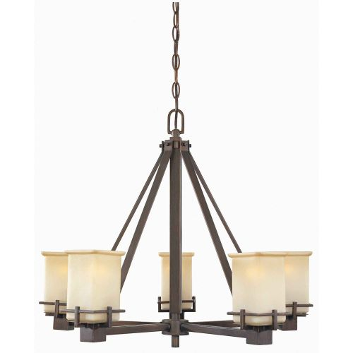 5 Light Oil Brushed Bronze Chandelier