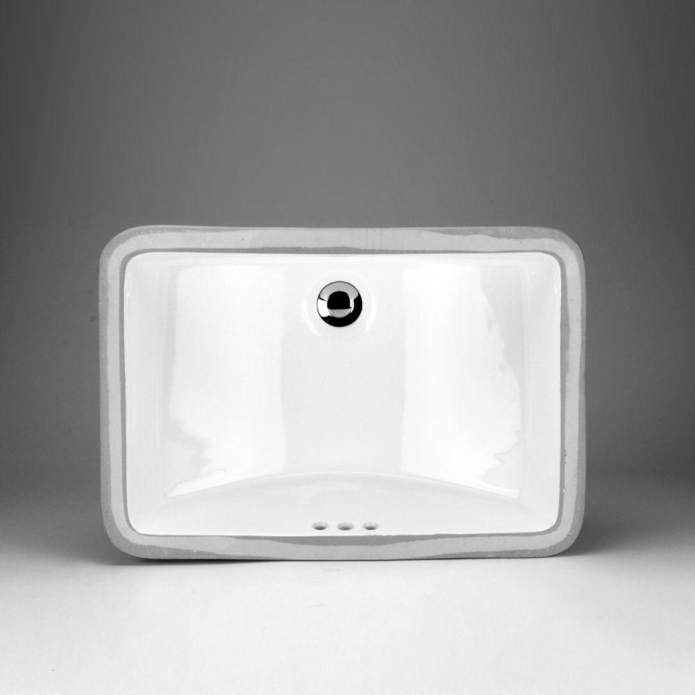 lavabo de dessus de comptoir en ceramique rectangulaire