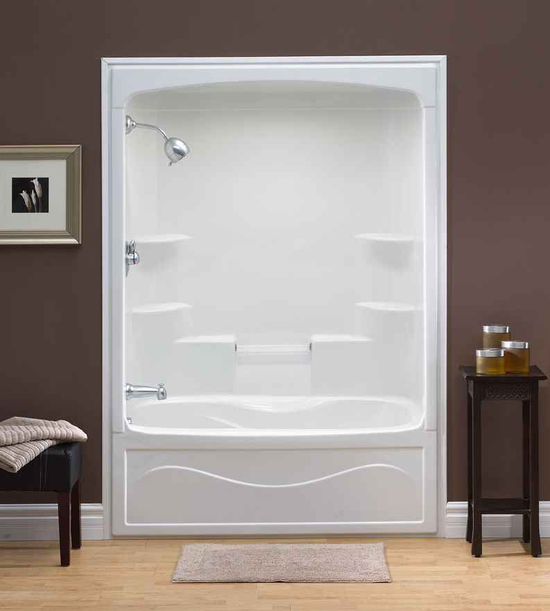 Mirolin Liberty 60 Inch 1 Piece Acrylic Tub And Shower Combination WhirlpoolJet Air Left Hand