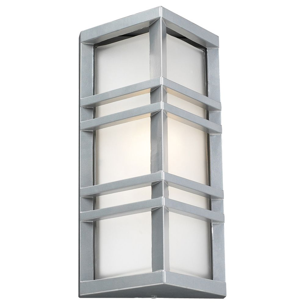 Contemporary Beauty 1 Light Outdoor Wall Sconce with Frost ... on Modern Outdoor Wall Sconce id=28358