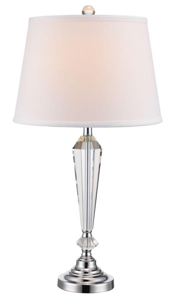 laguna lampe de table en chrome poli 1 lumiere