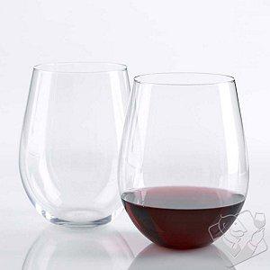 Wine Enthusiast U Cabernet/Merlot Stemless Wine Glasses (Set of 2)