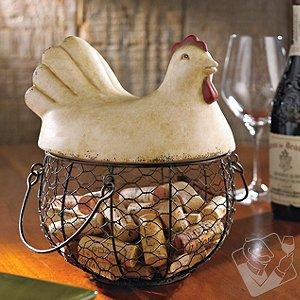 Hen Wine Cork Catcher