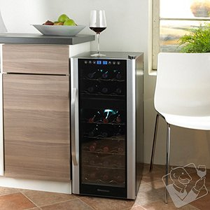 Wine Enthusiast Silent 21 Bottle Dual Zone Touchscreen Wine Refrigerator