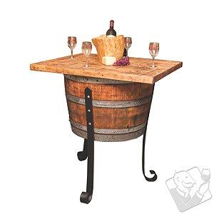 Reclaimed Wine Barrel Wine Cellar Table Island