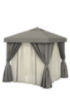 Aluminum Cabana 8 Square W Fabric Curtains Sheer Curtain Rods Amp Vent Tropitone