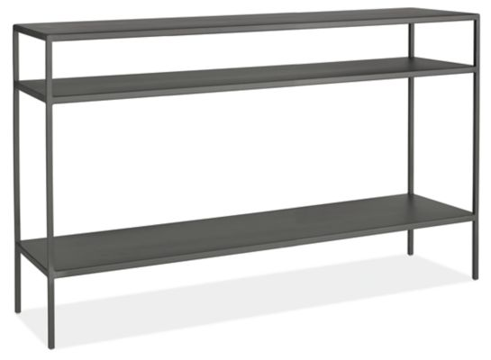 Slim Modern Console Tables In Natural Steel Modern