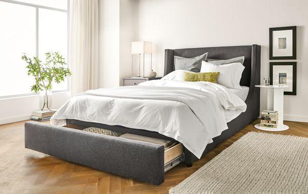 Marlo Storage Drawer Bed Modern Bedroom Furniture Room