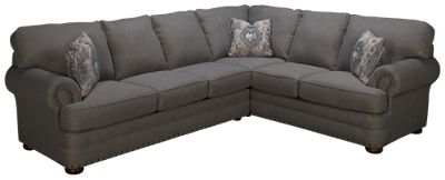 klaussner home furnishings cliffside 2 piece sectional