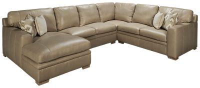 simon li yuban 4 piece leather sectional