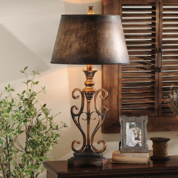 Scroll Table Lamp | Kirklands on Lanterns At Kirklands id=56472