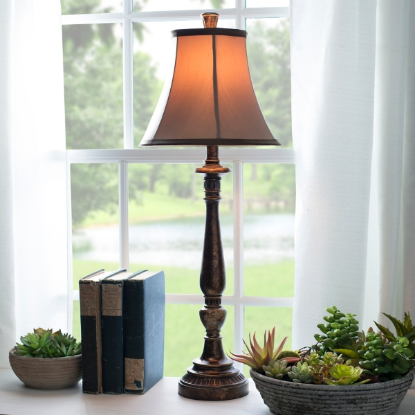Bronze Harmon Buffet Lamp | Kirklands on Lanterns At Kirklands id=25436
