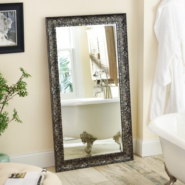 Black Mosaic Framed Mirror, 32x56 in. | Kirklands on Floor Mirrors Decorative Kirklands id=67675