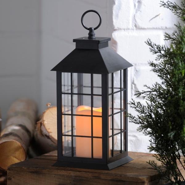 Black Lantern with LED Candle | Kirklands on Lanterns At Kirklands id=33214