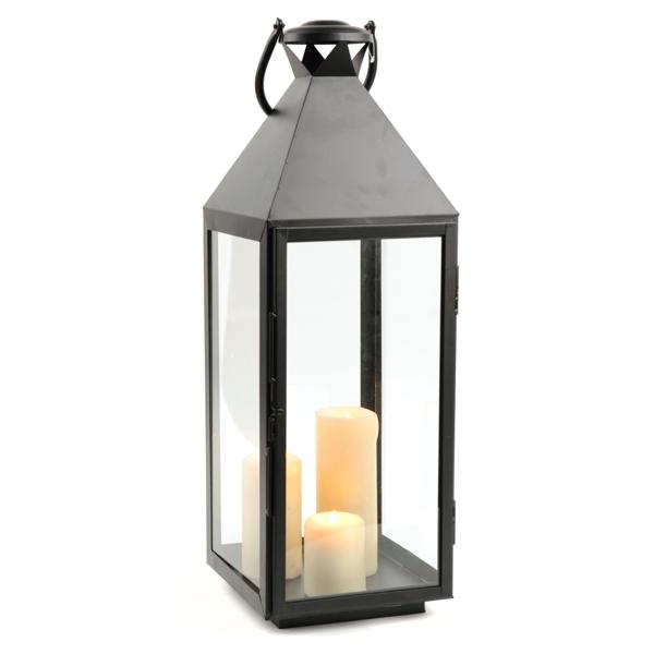 Black Crown Metal Lantern, 27.5 in. | Kirklands on Lanterns At Kirklands id=28315