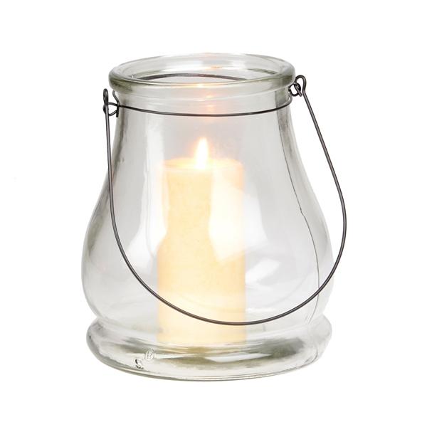 Clear Glass Lantern, 10.5 in. | Kirklands on Lanterns At Kirklands id=94968